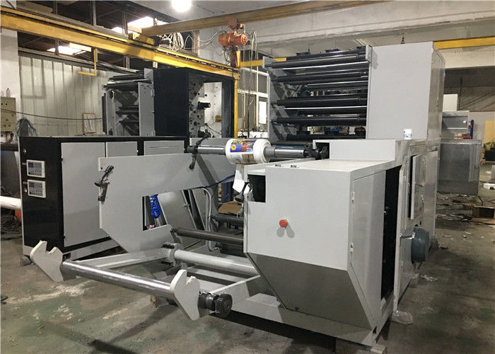 6 / 4 Colors Flexographic Printing Machine , Flexo Press Machine 100 M/Min Max Printing Speed